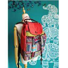 Mixed Fabrics Backpack 100% Handmade