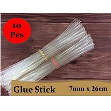 10 Pcs Glue Stick for Hot Melt Gun 7mm x 26cm