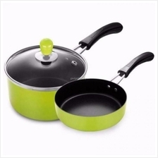 3pcs Nonstick Cookware Sauce Pan & Saute Pan Induction Cookware Set