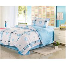 1500TC Ocean Blue Bubble Pure Cotton Bedding Set