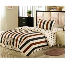 1500TC Classic Straped Pure Cotton Bedding Set