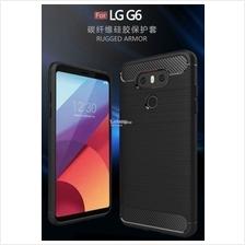 LG G6 / LG V30 Full Protection Durable CARBON FIBER Soft TPU Case