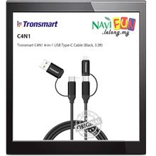★ Tronsmart C4N1 4-in-1 USB Type-C Cable (Black, 3.3ft)