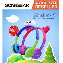 SonicGear Kinder 1 Kids Child Sound Safe Wired Cute Stereo Headphones