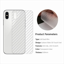 Apple iPhone X Carbon Fiber Film Back Screen Protector