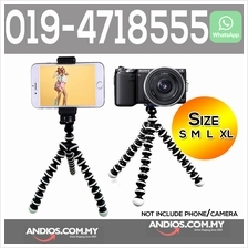 Octopus Tripod Camera Stand +Phone Clip S M L XL Selfie Wefie Vlog