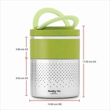 Healthy Life 2 Layer Lunch Box MY702 (304 Stainless Steel Food Grade)