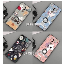 HUAWEI Mate 10 Cartoon Hard Case with RING and Strap