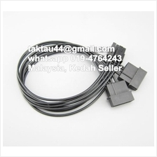 2 x IDE 4Pin 4p Molex to PCIE PCI-E 8Pin 8p (6+2) power cable