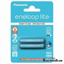 Panasonic Eneloop Lite AAA x2 600mAh NiMh Rechargeable Battery Japan