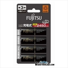 Fujitsu AA x4 2550mAh NiMH 500 Cycle Rechargeable Battery Japan