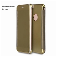 LUXURY MIRROR FLIP COVER HARD PC CASE FOR IPHONE 6S PLUS 5.5 INCH (GOL
