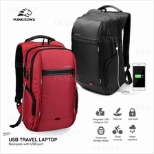 KINGSONS Anti Theft Travel Laptop Backpack Bag 15.6 inch USB Charging)