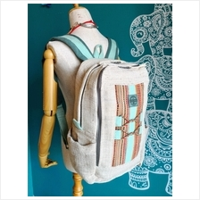 Plant Fiber Weaved Backpack 100% Handmade