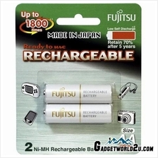 Fujitsu AA x2 2000mAh NiMH 1800 Cycle Rechargeable Battery Japan