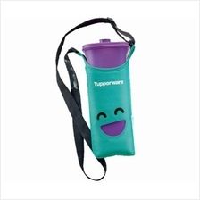 Tupperware Smiley Bottles (1) 2.0L (Purple) + Pouch (Green)