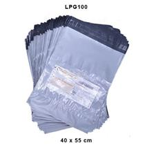 Large Grey Courier Bag With Pocket 100pcs LPG100
