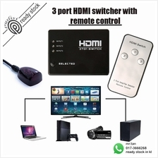 HDMI Switcher Splitter Hub Remote Control 3IN1/5IN1 OUT with remote co