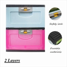 Multi Function Colourful Drawer With Lock Layer Storage Box Organiser