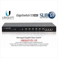 ES-12F Ubiquiti EdgeSwitch 16 port Gigabit Fiber SFP Switch UBNT