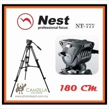 NEST NT-777 Professional 180cm 1.8m DSLR Camcorder Tripod+ Fluid Video