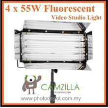 CAMZILLA-455A : 4 x 55W Fluorescent Video Studio Light with Heavy Duty