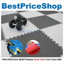 100x100x2.5cm Non Toxin Dual Color Eva Foam Mat Judo Yoga Gym Exercise