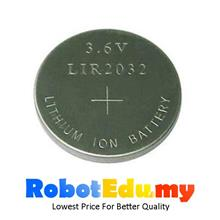LIR2032 Rechargeable CR2032 3V Lithium Button Cell RTC Battery