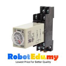 DC 12V H3Y-2 8 Pin DPDT 0-60s Timing Control Time Relay (Free Holder)