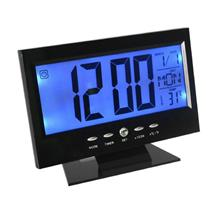 Sound Control Backlight Digital LCD Clock With Date/Temp (DS-8082)