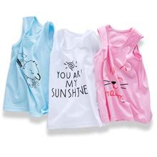 [KC 017] Cute Baby Singlet Child Singlets Shirt Clothes Simple Clothin