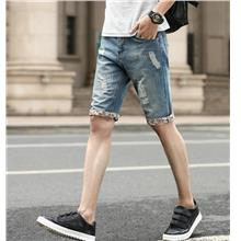 [MP 064] Denim Men Jeans Shorts Jean Short Pants Ripped Casual Trendy