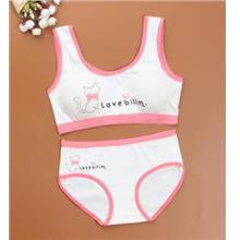 [KI 016] Cotton Cute Girl Inner Wear Set Bra UnderWear Child Cute Baby