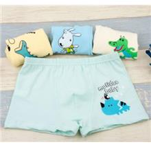 [KI 002] 4 in 1 Box Set Child Cute Baby Kid Underwear Kids Pants Inner