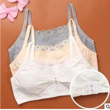 [KI 017] Cotton Baby Girl Inner Wear Bra Young Child Cute Clothing Shi
