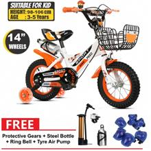 FSX 14 Inch BMX Freestyle Kids Bikes Bicycle with Training Wheels (Age