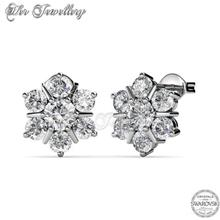 Earrings Flowery embellished with crystals from Swarovski®  )