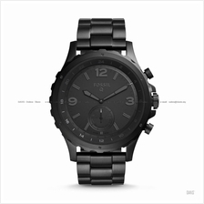 FOSSIL FTW1115 Men's Q Nate Hybrid Smartwatch SS Bracelet All Black