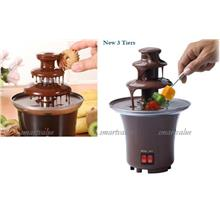 50% Off] Elegant 3 Tiers Mini Chocolate Fondue Fountain. Must Have~