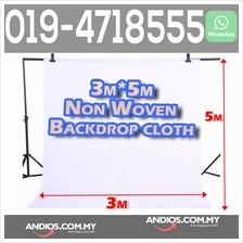 Non woven Fabric Cloth Backdrop Background-White 3X5meter Studio