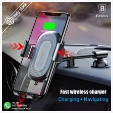 Baseus Gravity Car Holder Qi Wireless Charger iPhone X Fast Charging M