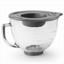 KitchenAid 4.8L Tilt-Head Glass Bowl with Measurement Markings and Lid - K5GB