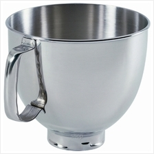 KitchenAid 4.8L Tilt-Head Polished Stainless Steel Bowl with Comfortable Handl