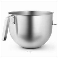 KitchenAid 6.9L Polished Stainless Steel Bowl with J Hook Handle - KSMC7QBOWL