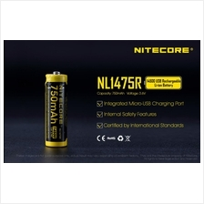 Nitecore 14500 Li-ion 750mAh Micro USB Rechargeable Battery