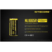 Nitecore 16340 Li-ion 650mAh Micro USB Rechargeable Battery