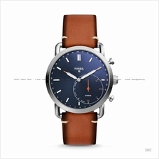 FOSSIL FTW1151 Men's Q Commuter Hybrid Smartwatch Leather Blue Brown