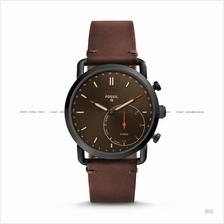 FOSSIL FTW1149 Men's Q Commuter Hybrid Smartwatch Leather Strap Brown