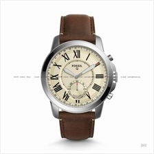 FOSSIL FTW1118 Men's Q Grant Hybrid Smartwatch Leather Strap Brown