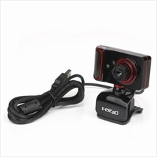 USB WEBCAM ROTATABLE FOCUS ANGLE CLIP STYLE PC CAMERA (RED WITH BLACK)